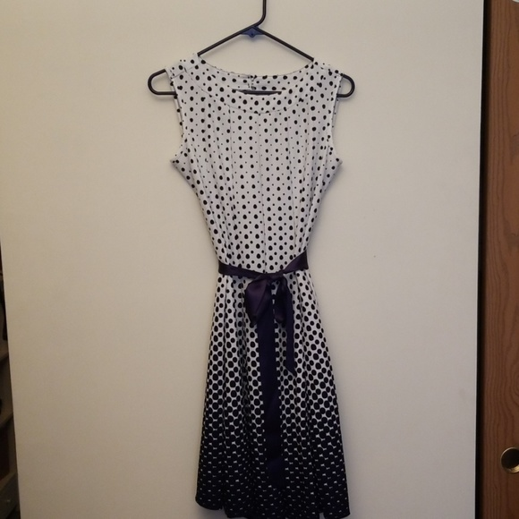 Haani Dresses & Skirts - HAANI blue polka dot dress